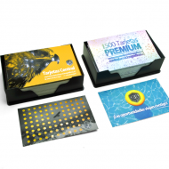 2 Pack de Tarjetas Premium - Barniz 2 caras